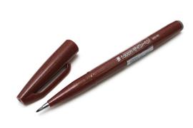 Brushpen Pentel Touch Pen SES15C - Bruin