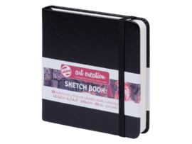 Talens art creation Brush / Schetsboek 12 x 12 cm  - 80 vellen - Zwart