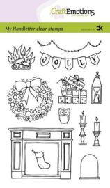 CraftEmotions clearstamps A6 - Handletter -  X-mas decorations 2 - Carla Kamphuis