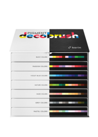 Karin Pigment DecoBrush Acrylmarkers  - set van 84 - Master Colors
