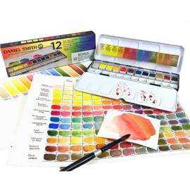 Daniel Smith standard colours Extra Fine Watercolor Aquarelset - set van 12 napjes