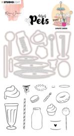 Studio Light Clear Stamp & Die Cut Karin Joan - Missees pets sweet table nr.11