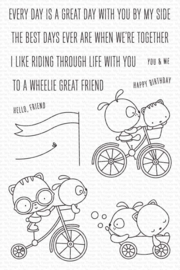 My Favorite Things clear stamps - set van 12 - Wheelie Great Friend