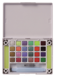 Koi Water Colors Sketchbox - set van 24 inclusief  Metallic and Reflex + waterbrush