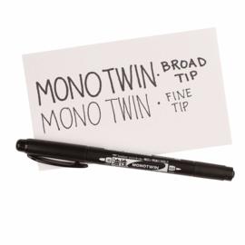 Tombow MONO Twin Marker - Breed en Fijn - Zwart