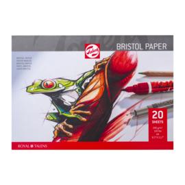 Talens Bristol papier A4 - 20 vellen 246 grams Wit