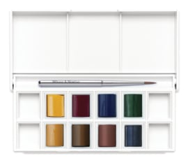 Winsor & Newton Cotman Aquarelverf - pocket set van 8 + penseel - Landscape