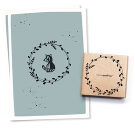 Cats on Appletrees - Houten stempel - 55x55mm - Blossom Crown 3