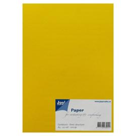 Joy Crafts Kraft papier A5 - 20 stuks - 200 gram - Geel