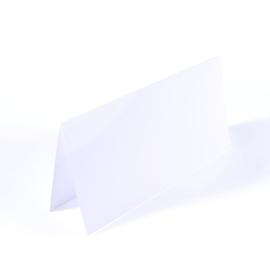 Florence - dubbele kaarten 11 x 22 cm wit - set  van 25