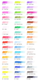 Sakura koi color brush pen set van 48