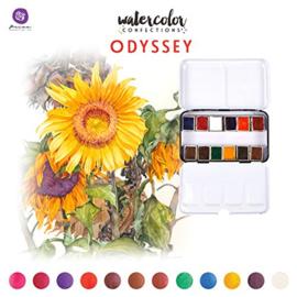 Prima Marketing Confections Aquarelverf Odyssey - set van 12 kleuren