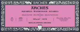 Arches Aquarelpapier - hot pressed - 300 grams - 20 vellen - 10 x 25 cm