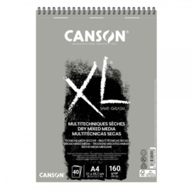 Canson XL Dry Mixed Media papierblok - 40 vellen - Sand Grain Grey - A4