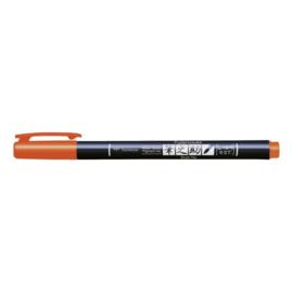 Tombow Fudenosuke Brush Pen / kalligrafie - hard WS-BH - oranje