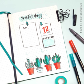 CraftEmotions clearstamps A6 - Bullet Journal - images-digits Carla Kamphuis  - set van 27