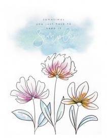 Studio Light Aquarelblok Pad - A5 Karin Joan Blooming Coll. nr.01