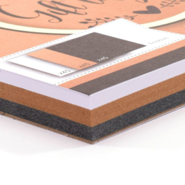 Florence Labelblok 15 x 15 cm - 135 labels - 3 maten en 3 kleuren