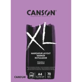 Canson XL Alcoholmarker papierblok - 100 vellen 70 grams - A4