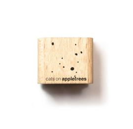 Cats on Appletrees - Houten stempel - 15x15mm - Little Confetti