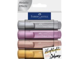 Markeerstiften Faber-Castell - Metallic set van 4
