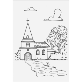 Crafter's Companion Lee Holland Clearstamp - Village Church