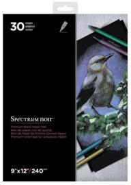 Spectrum Noir papier 240 gram - A4 - 30 vellen - Zwart