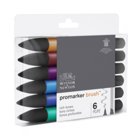 Winsor & Newton promarkers Brush - Rich tones - set van 6