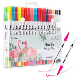 Ohuhu Dual Tip Brush markers - set van 36