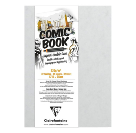 Clairefontaine Comic Book alcohol marker papier - 32 vellen - 17,6 x 25 cm