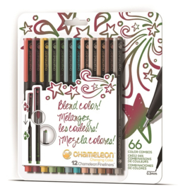 Chameleon Fineliners Designer Colors - set van 12