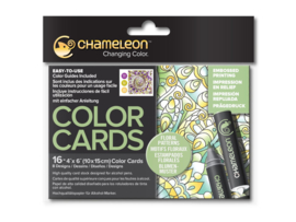 Chameleon Color Cards - Floral Patterns 10 x 15 cm - set van 16