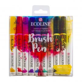 Talens Ecoline Brush Pen - set van 10 - Handlettering