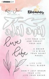 Studio Light Stamp & Die Cut A6 Karin Joan Blooming Coll.02