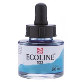 Talens Ecoline Vloeibare waterverf 30 ml - 522 turkooisblauw