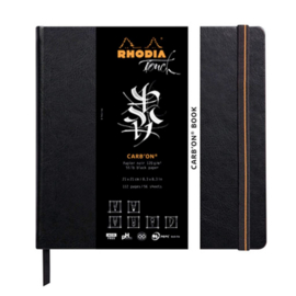 Rodhia Touch Carb'on book papier 21 x 21 cm - 112 pagina's - 120 grams Zwart