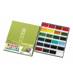 Kuretake Aquarelverf - Gansai Tambi Water Colours Brush Set  - set van 24