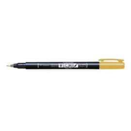 Tombow Fudenosuke Brush Pen / kalligrafie - hard WS-BH - geel