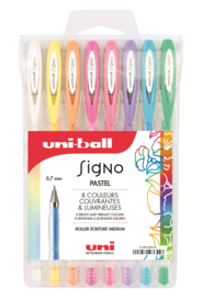 Uni-ball Signo Pastel Gelpennen UM-120 -  0,7 mm - set van 8