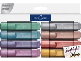 Markeerstiften Faber-Castell - Metallic set van 8