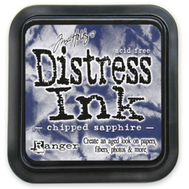 Tim Holtz Distress ink pad - chipped sapphire