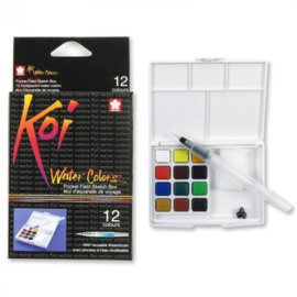Sakura Koi Water Colors Brush Set - 12 kleuren
