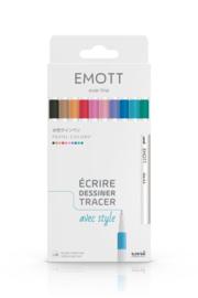 Uni Emott Fineliners - set van 10 - Pastel