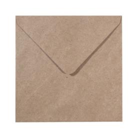 Florence - Enveloppen 16 x 16 cm kraft - 120 grams - set van 25