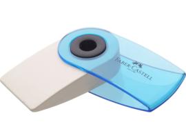 Faber Castell gum Sleeve transparant - Blauw