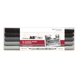 Tombow ABT PROAlcohol based markers - Cold Grey colours - set van 5