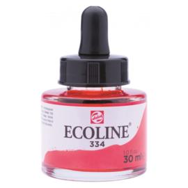 Talens Ecoline Vloeibare waterverf 30 ml - 334 scharlaken