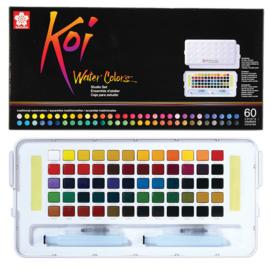 Sakura Koi Water Colors Brush Set - 60 kleuren