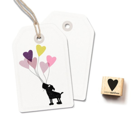 Cats on Appletrees - Houten stempel - 15x15mm - Stamp Heart (small)