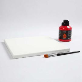 Gespannen canvas 30 x 30 cm - Wit